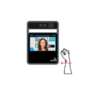 5in Facial Recognition_Wrist Temperature Screening Station